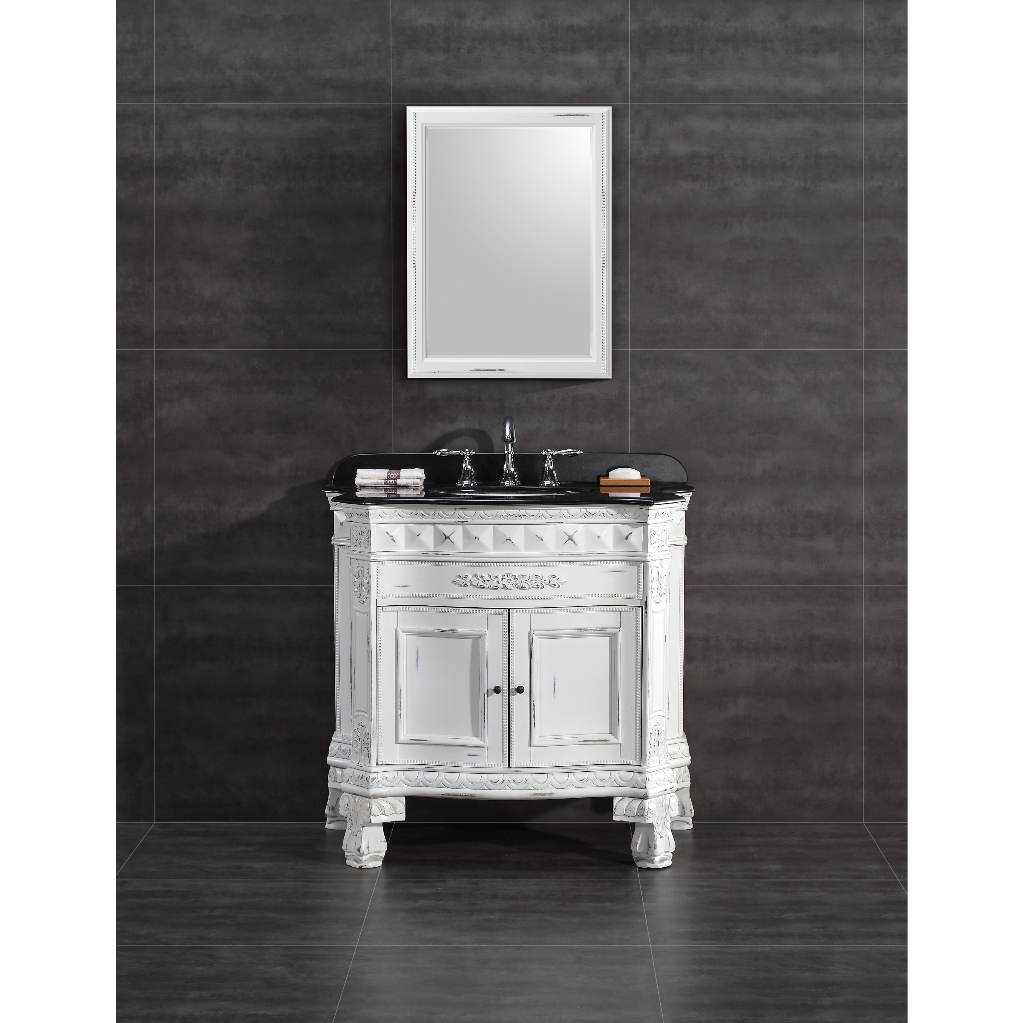 Genial Shop OVE Decors York 36 Inch Single Sink Bathroom Vanity With Granite Top    Free Shipping Today   Overstock.com   10490061