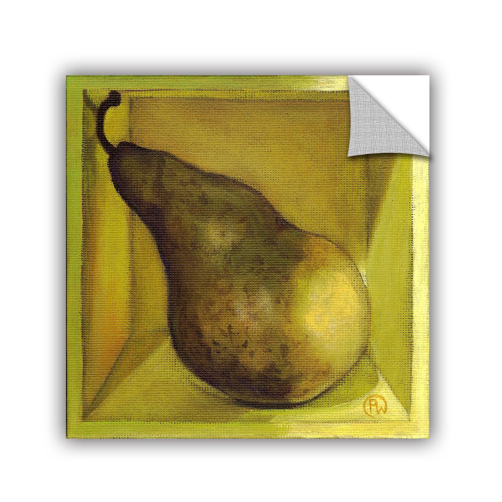 Shop ArtAppealz Paige Wallis \'Square Pear\' Removable Wall Art - Free ...