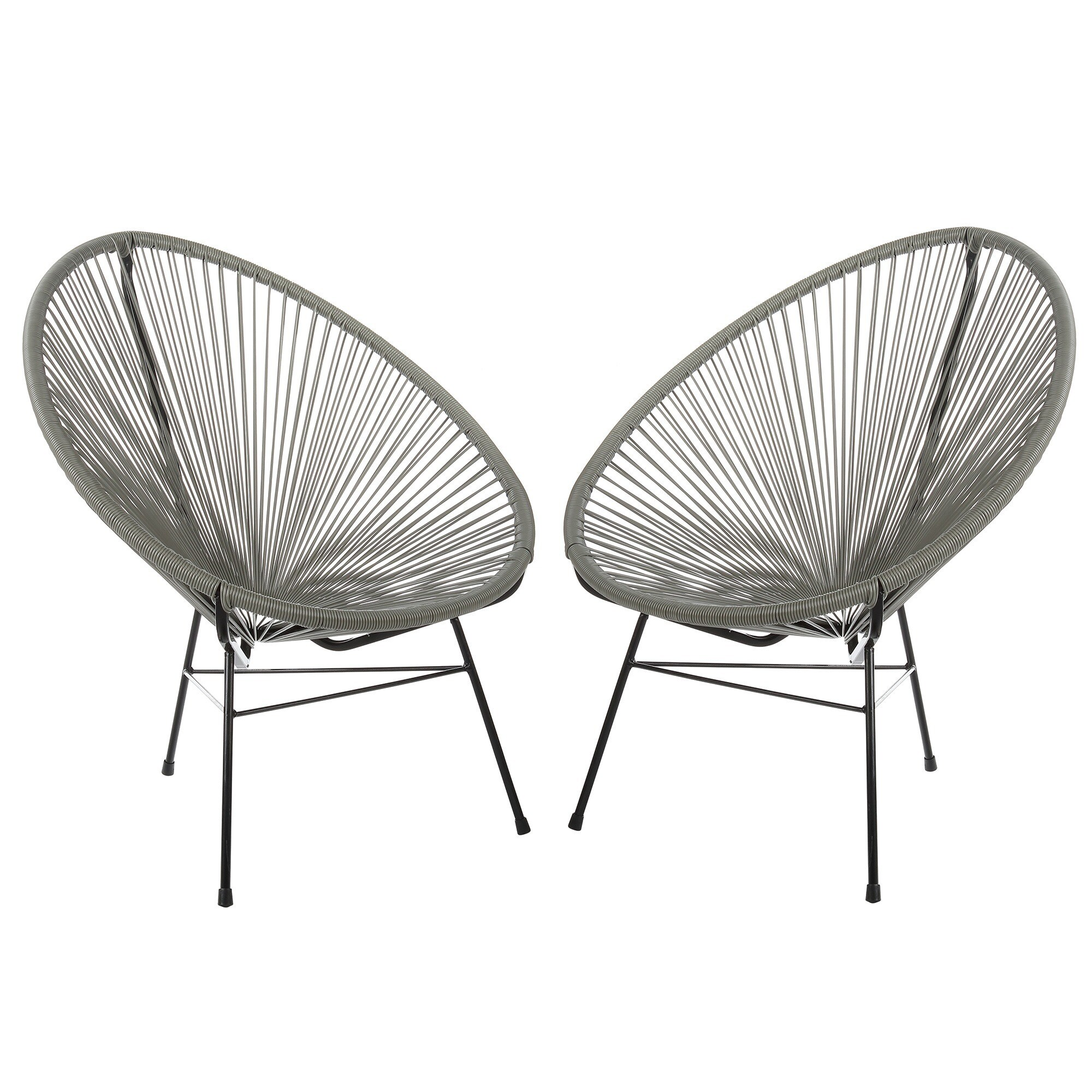 Set of 2 Acapulco Basket Lounge Chairs - Free Shipping Today ...