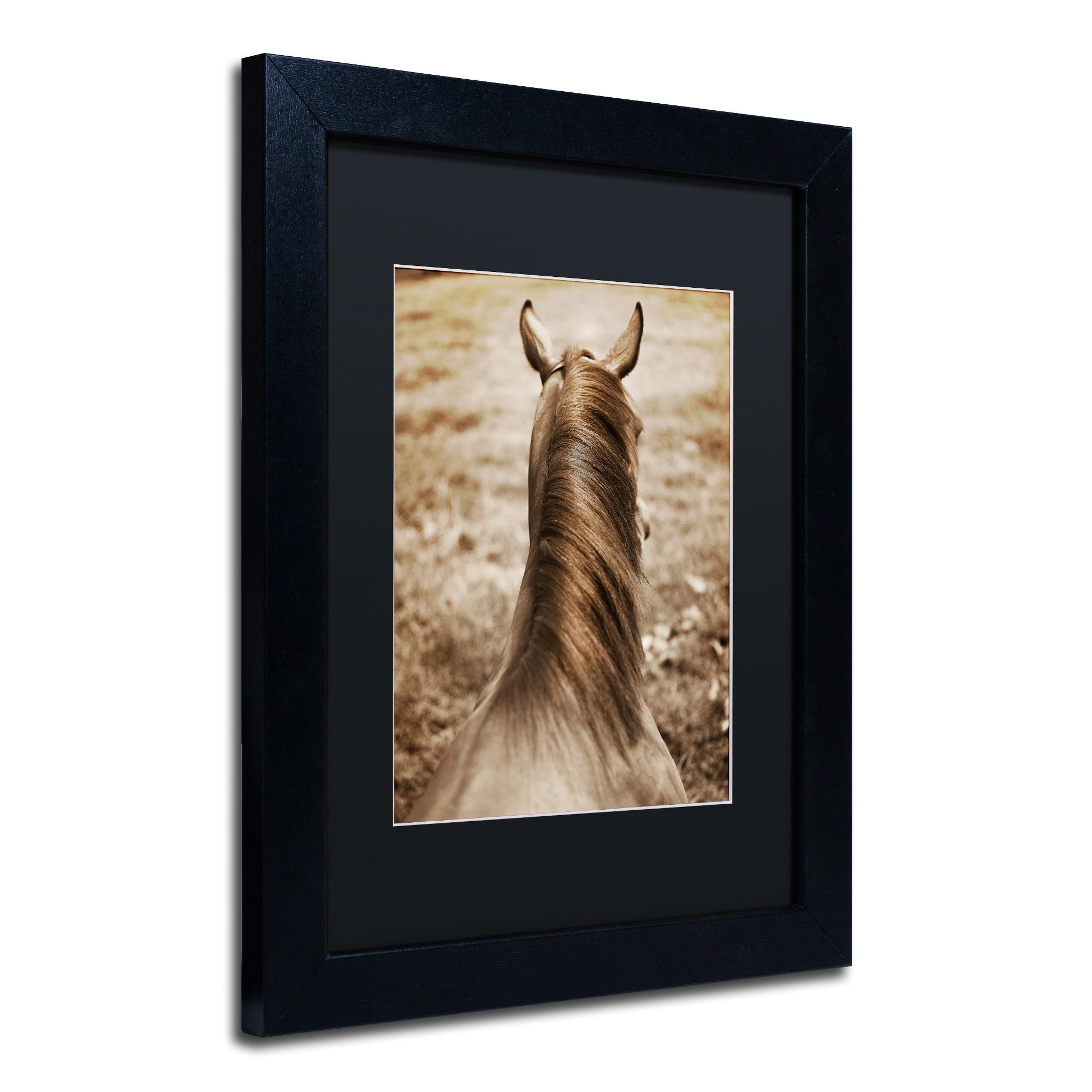 Preston Kentucky Horsemane Black Matte Wood Framed Wall Art