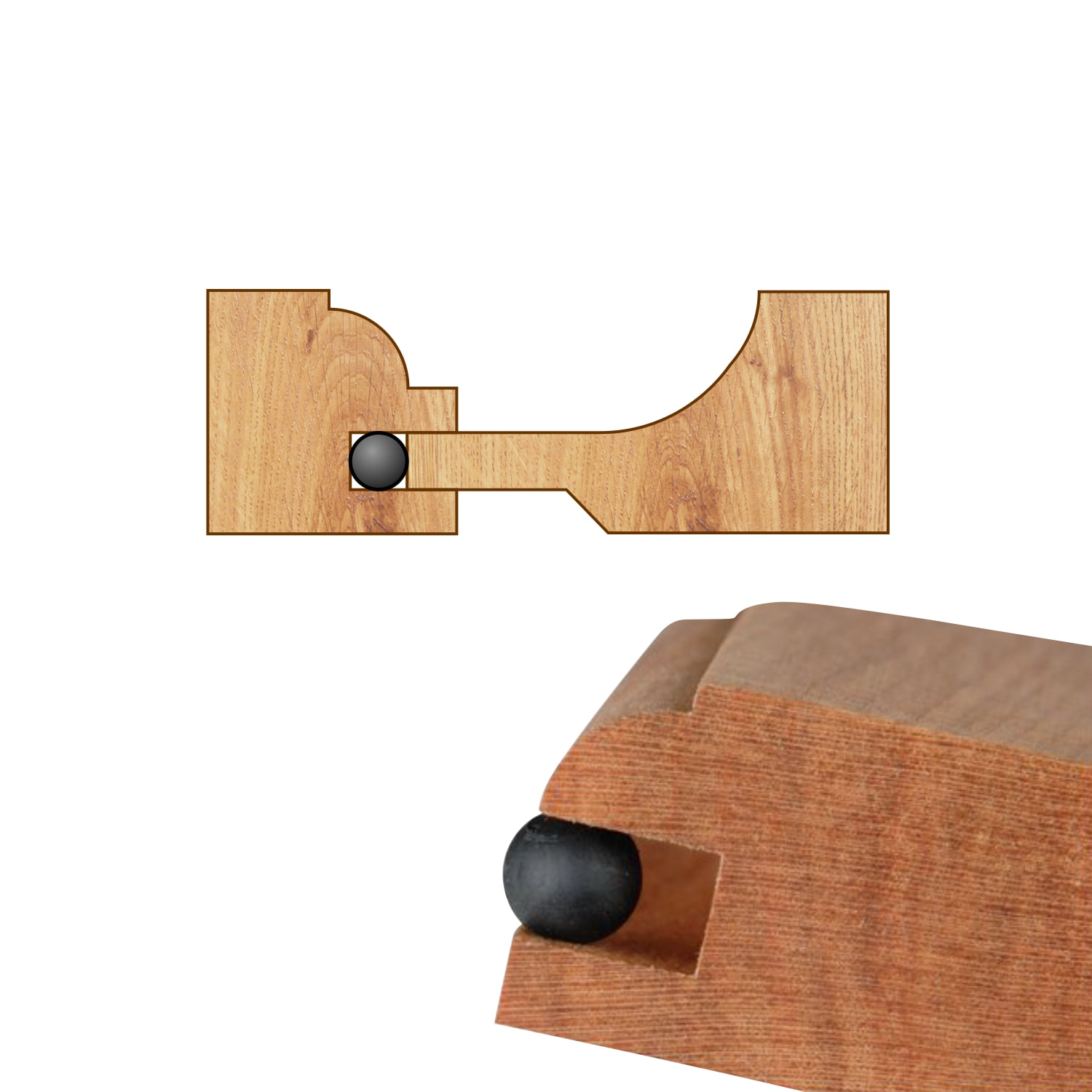 Shop 1000 Pack Space Balls Raised Panel Cabinet Door Spacers For 1 4 Groove