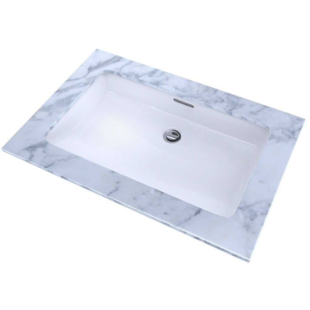 Toto Rectangular Undermount Bathroom Sink with CeFiONtect LT191G#01 ...