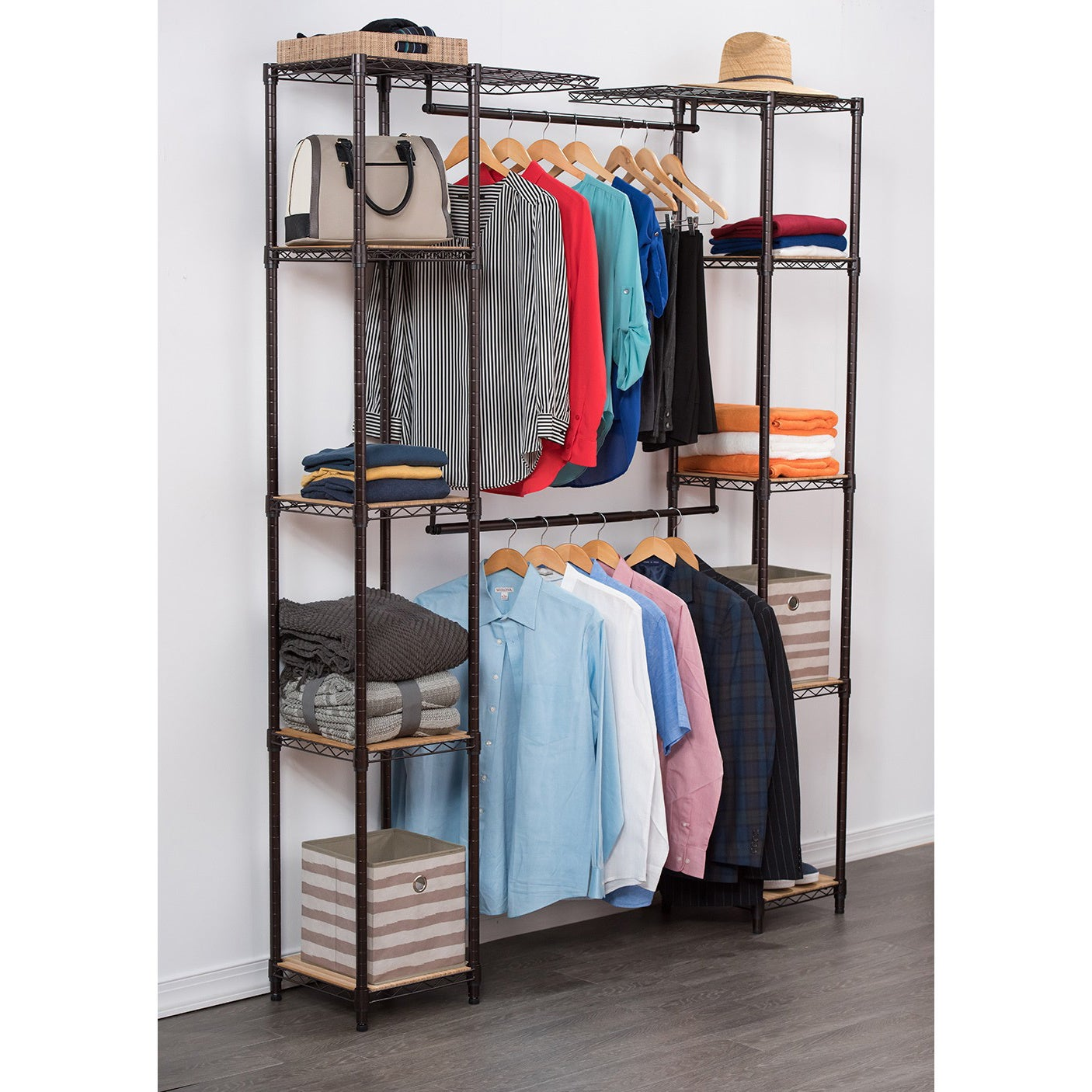 shelf today seville free racking garden home organizer overstock metal baxton by studio shipping product closet rack storage