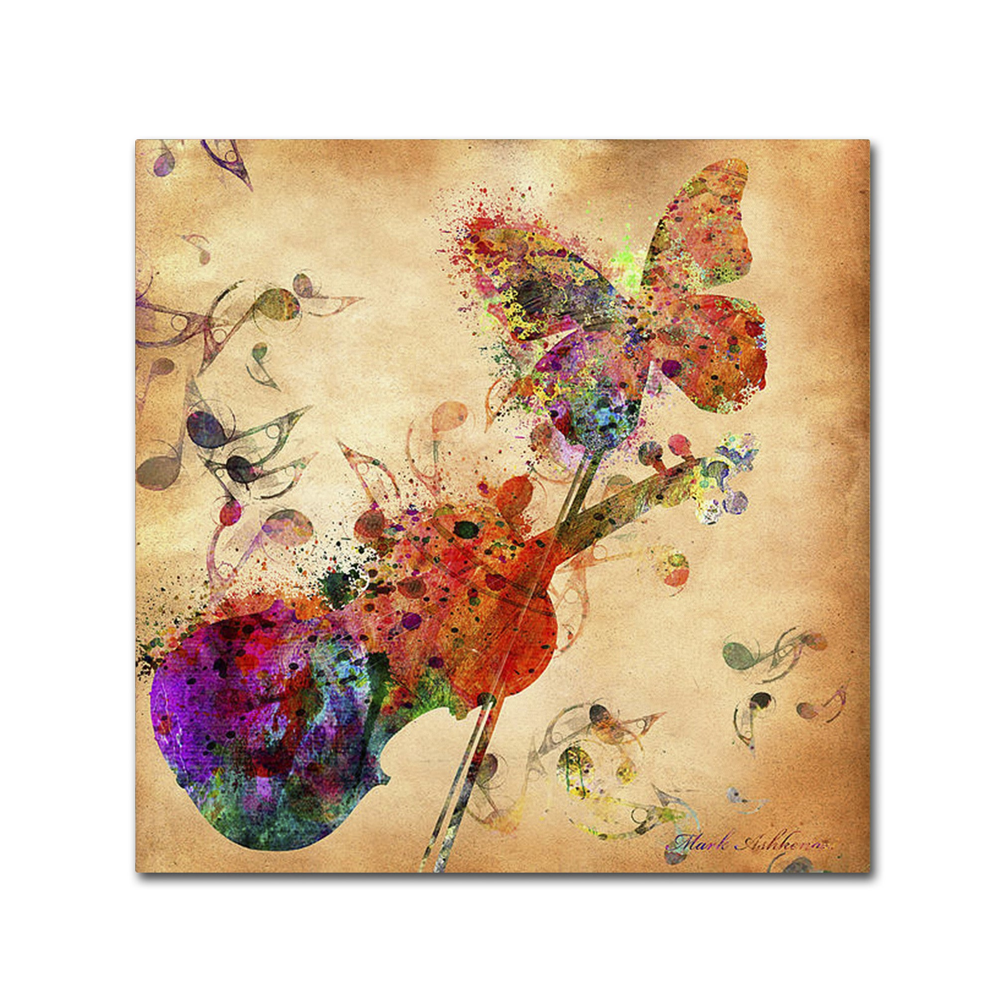 Shop Mark Ashkenazi \'Love Music\' Canvas Wall Art - On Sale - Free ...