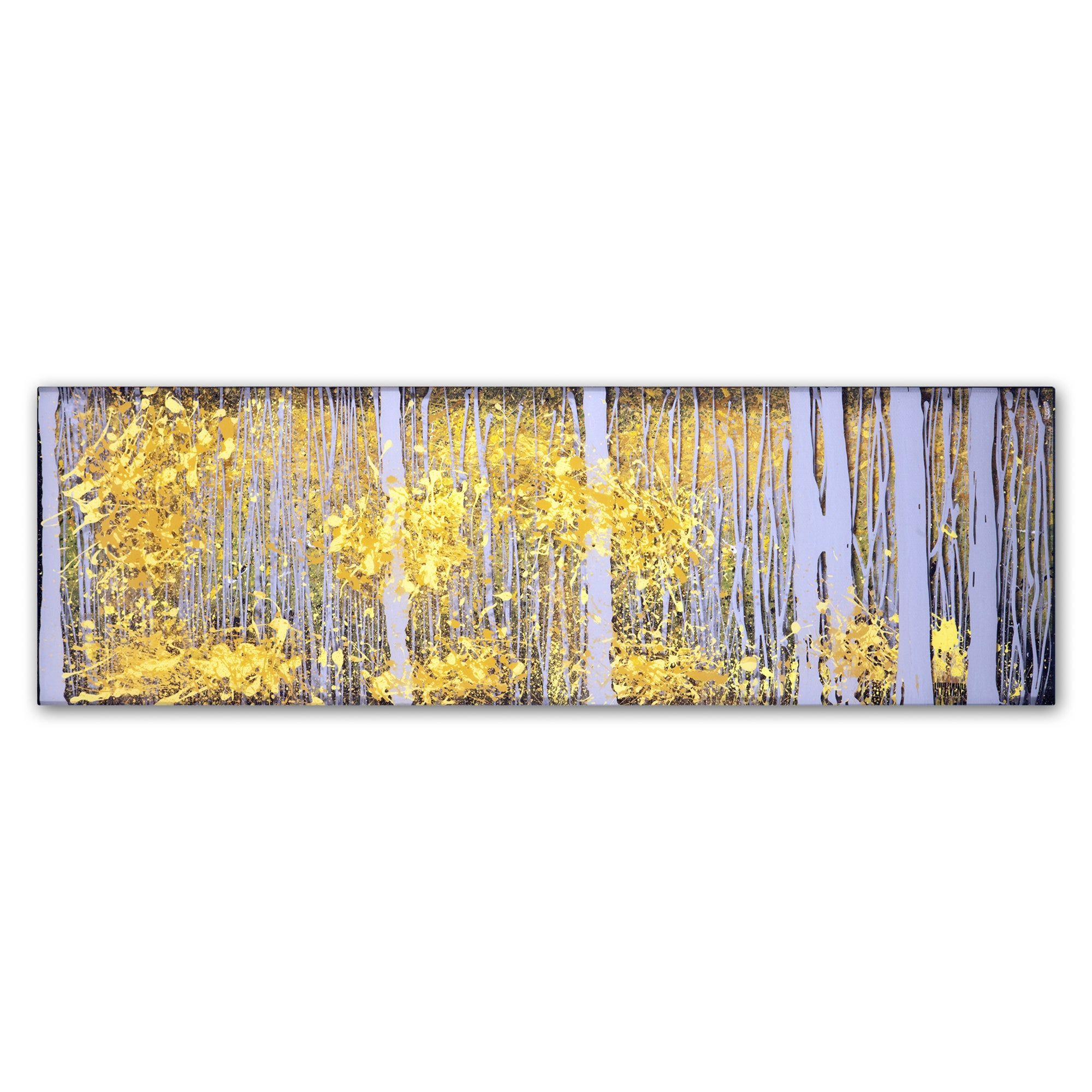 Shop Roderick Stevens \'PanorAspens Grey Forest\' Canvas Wall Art - On ...
