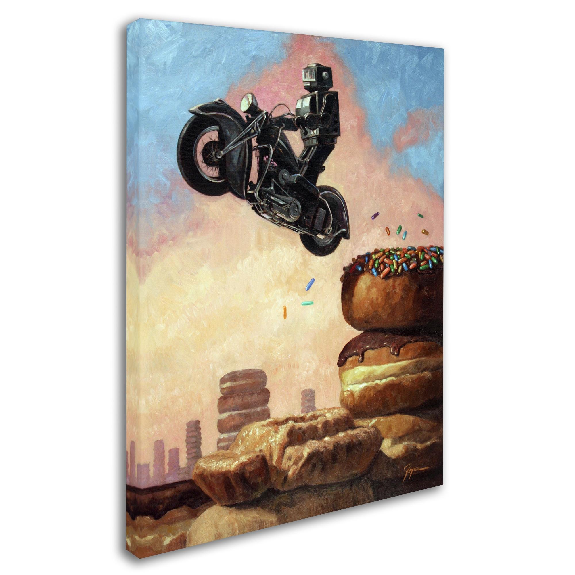 Shop Eric Joyner \'Dark Rider Again\' Canvas Wall Art - Multi - Free ...