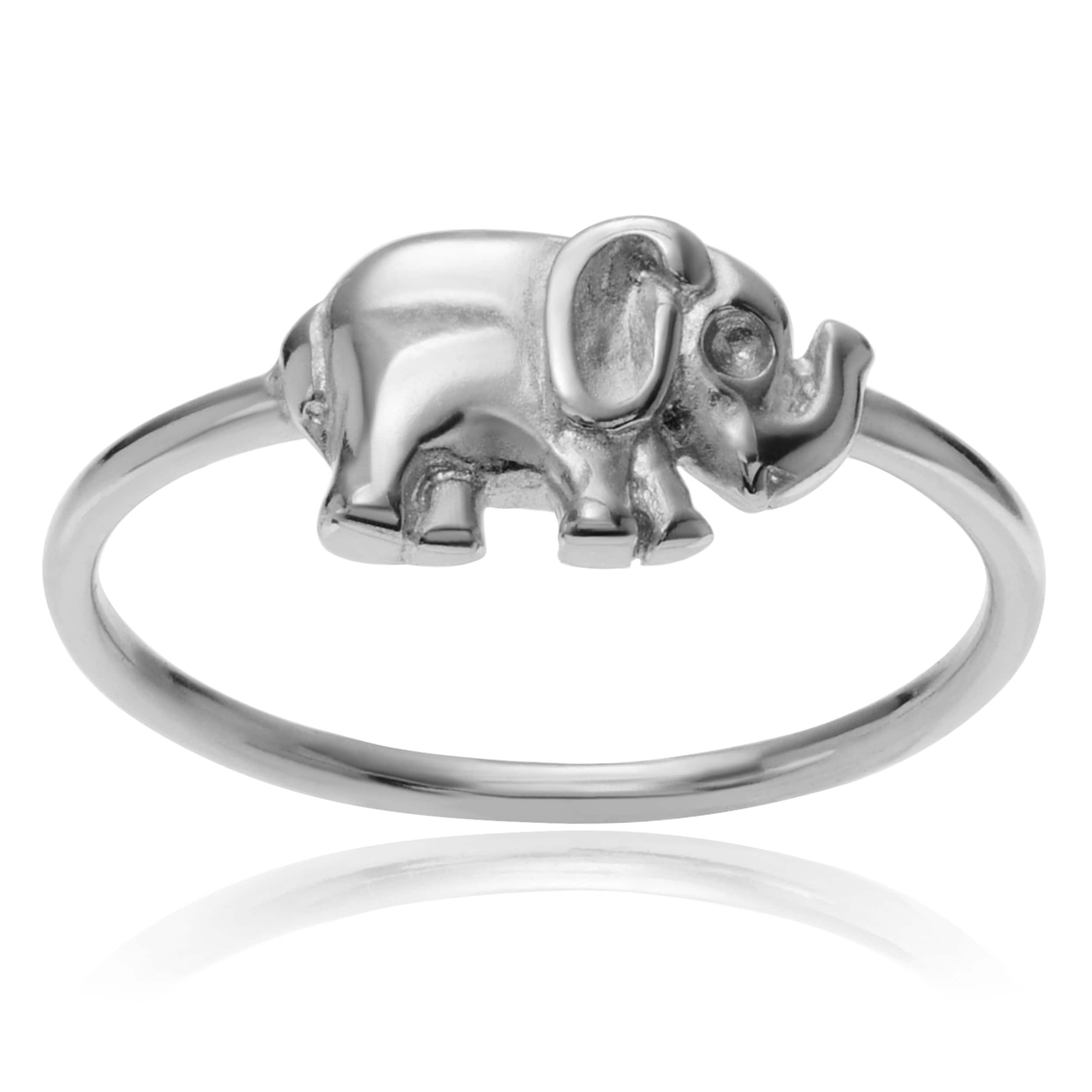 rings mini delivery and returns engagement rhodium jewellery r collections fashion safari elephant large ring bs