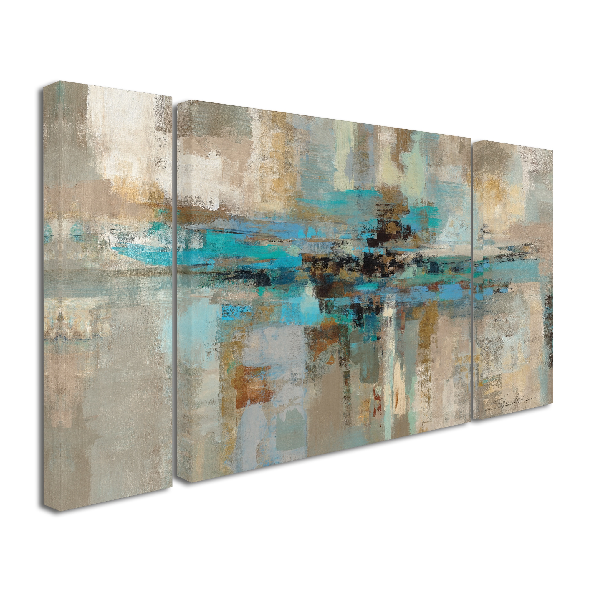 Shop Silvia Vassileva Morning Fjord 3-Piece Canvas Wall Art Set - Free Shipping Today - Overstock.com - 10511319  sc 1 st  Overstock.com & Shop Silvia Vassileva Morning Fjord 3-Piece Canvas Wall Art Set ...