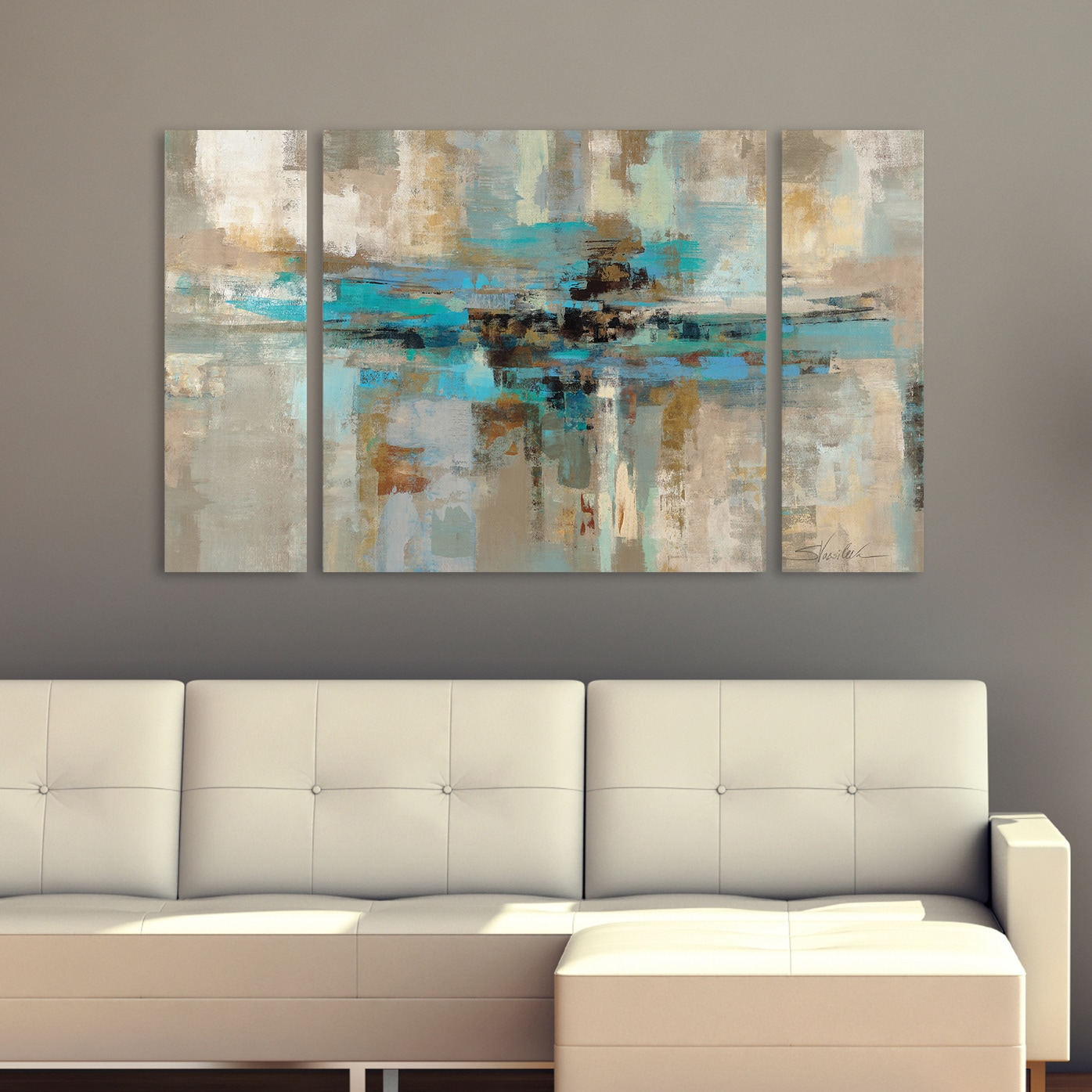 Charmant Silvia Vassileva Morning Fjord 3 Piece Canvas Wall Art Set   Free Shipping  Today   Overstock.com   17582673