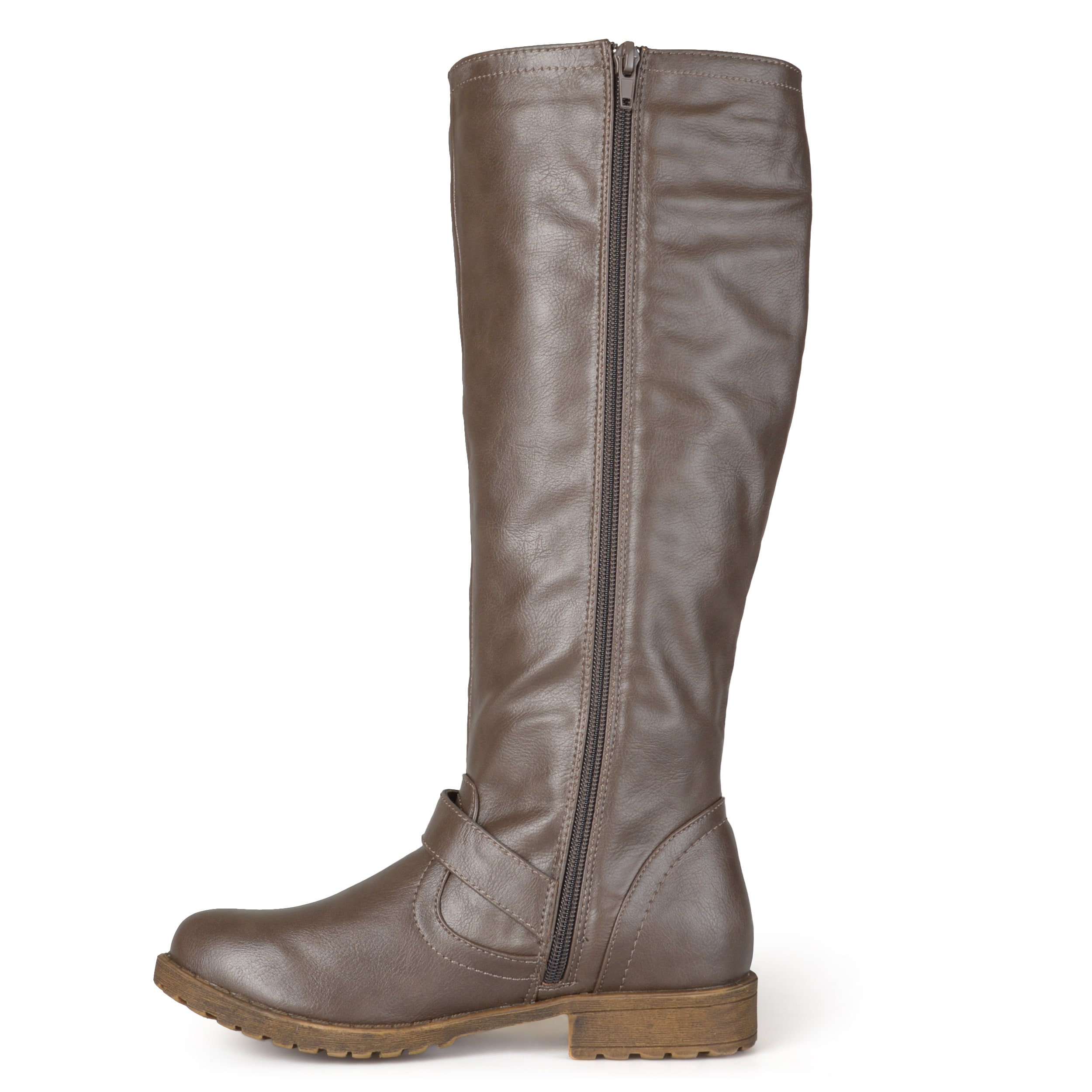 51c08abe877 Shop Journee Collection Women s  Tilt  Regular and Wide Calf Studded Zipper  Riding Boots - On Sale - Free Shipping Today - Overstock - 10511472