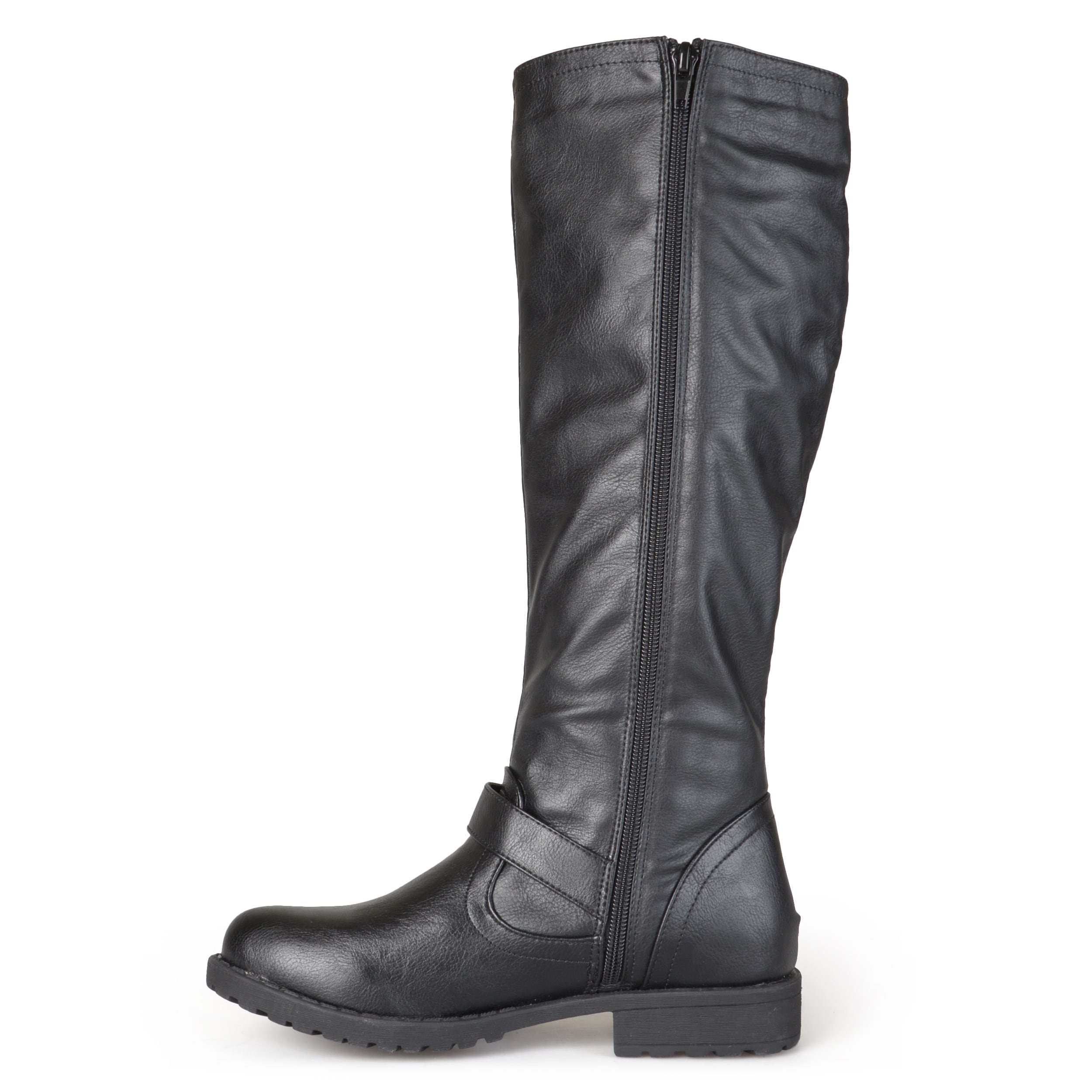 Journee Collection Women's 'Tilt' Regular and Wide Calf Studded Zipper Riding  Boots - Free Shipping Today - Overstock.com - 17585155