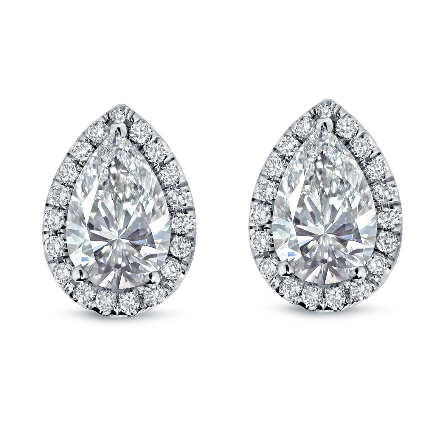 halo diamond ltd a products shape white earrings gold shaped pear ogi sapphire drop