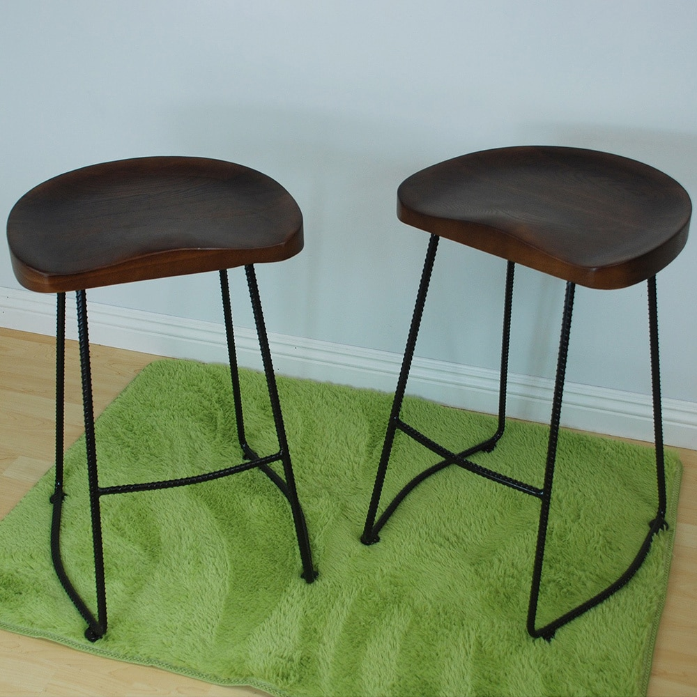 Shop Potter Wood 26-inch High Counter Stool (Set of 2) - Free ...
