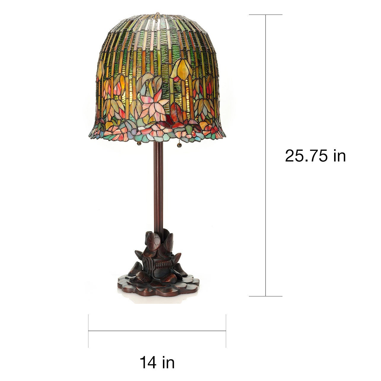 River of goods tiffany style pond lily stained glass table lamp river of goods tiffany style pond lily stained glass table lamp free shipping today overstock 17585211 aloadofball Gallery