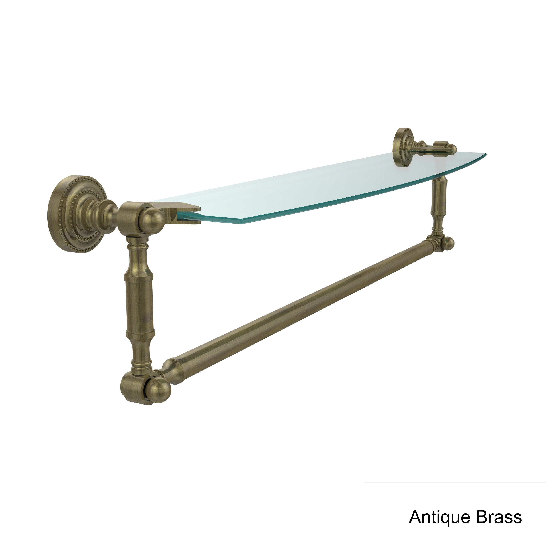 Allied Brass Dottingham 24-inch Glass Vanity Shelf with Integrated ...