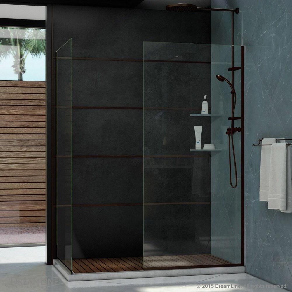 Linea Frameless Shower Door. Two Glass Panels - Free Shipping ...