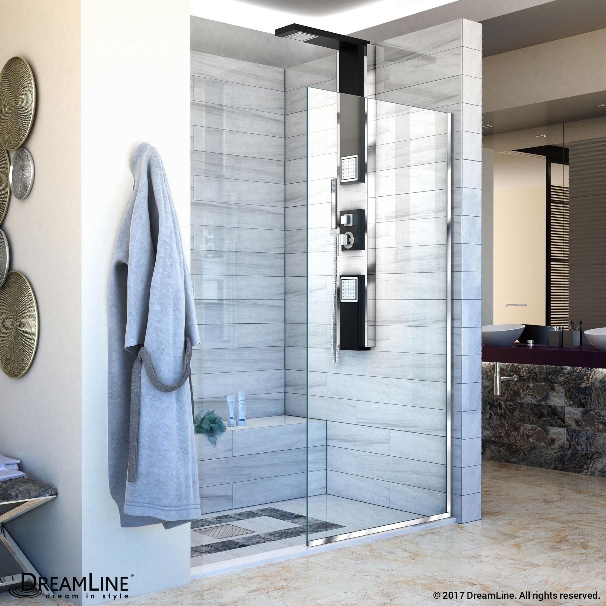 Shop Linea Frameless Shower Door 30 In X 72 In Open Entry Design