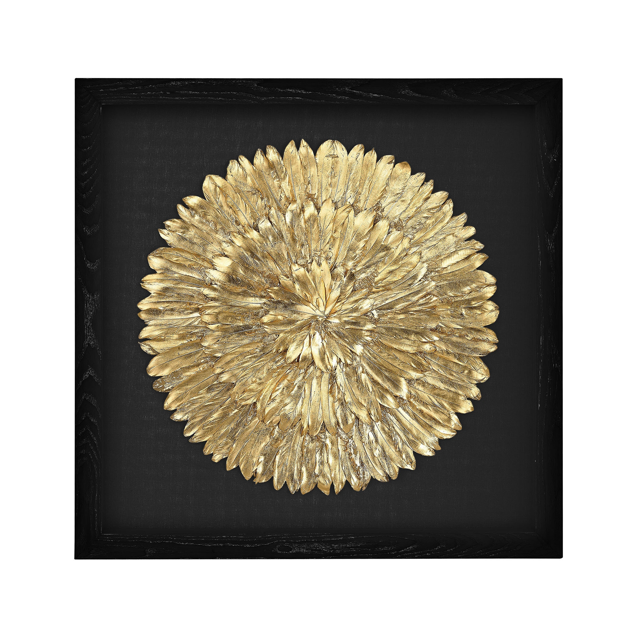 Dimond Home Gold Feather Spiral Framed Wall Art - Free Shipping ...
