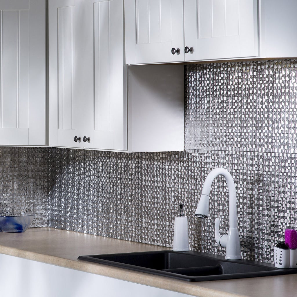 Images Of Crosshatch Silver Backsplash Kitchen Backsplash Ideas