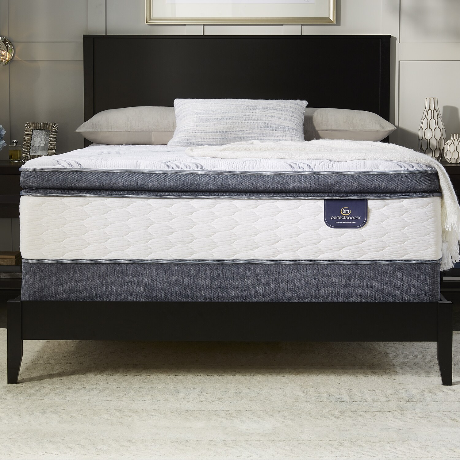 today sleeper box infuse perfect garden mattress top elite shipping free queen size set home spring and serta product euro overstock