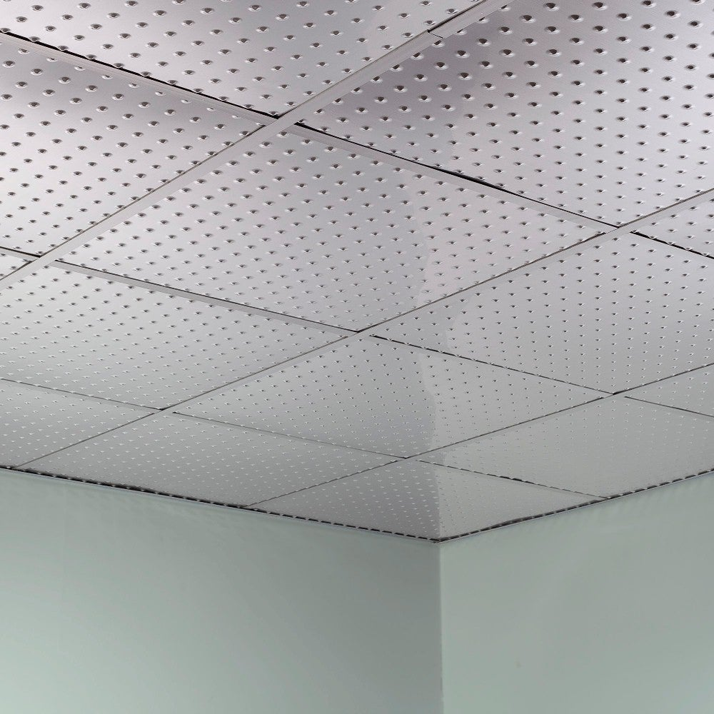 Shop Fasade Minidome Brushed Aluminum 2 Foot Square Lay In Ceiling