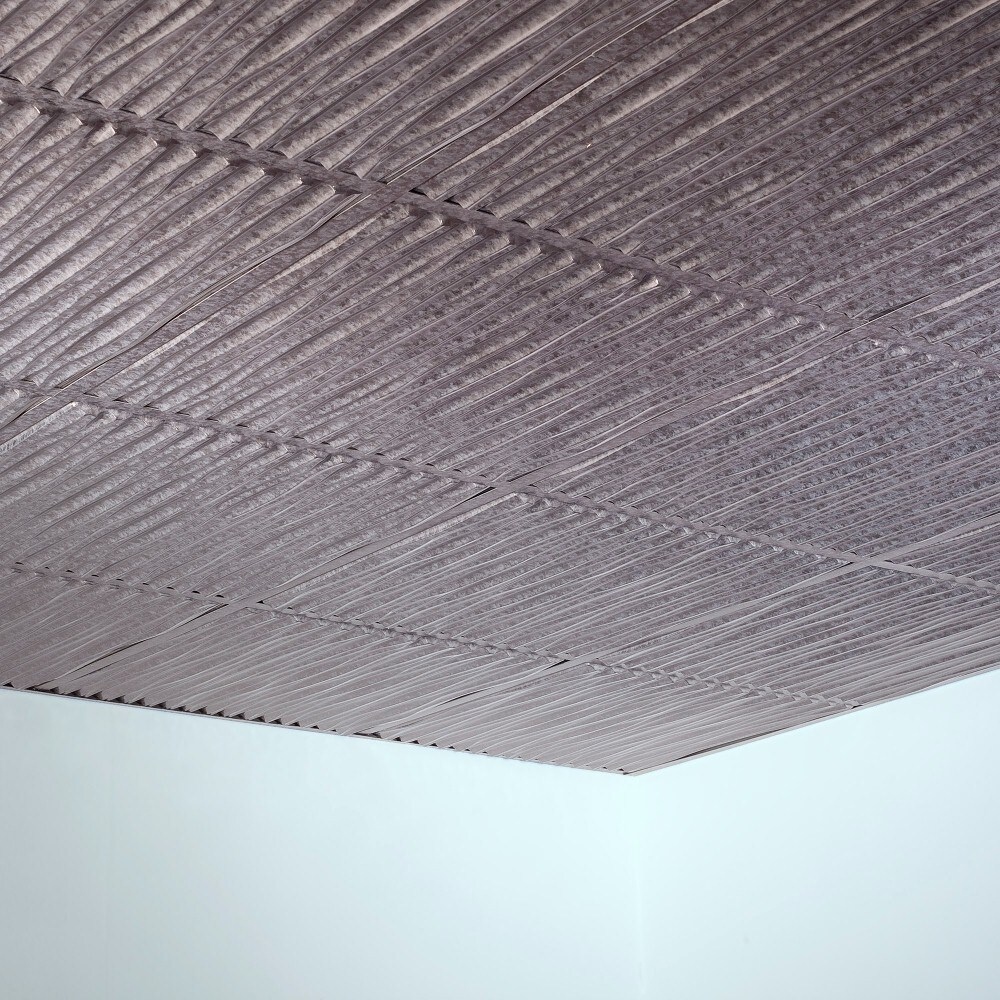 Shop Fasade Dunes Galvanized Steel 2 Foot Square Lay In Ceiling Tile