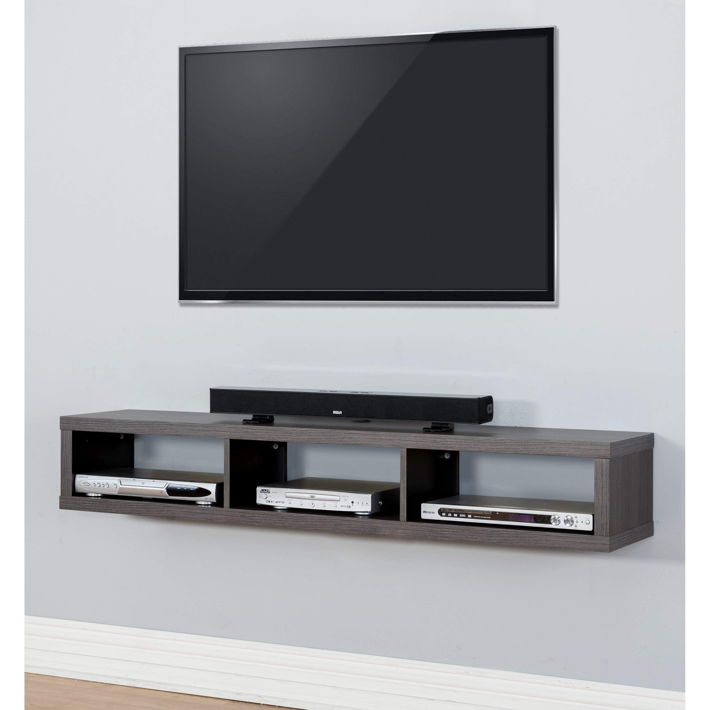 Thin 60 Inch Wall Mount Tv Console Free Shipping Today  # Etagere Tv Bois