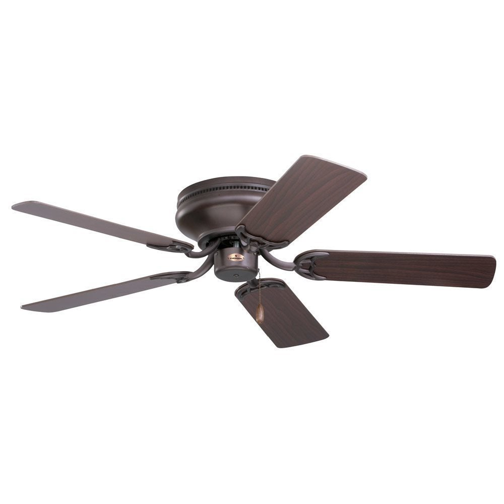fan nickel fans mount haiku satin ceiling h series cocoa bamboo low profile