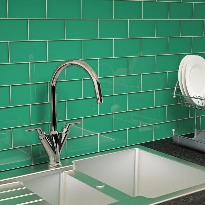 Emerald Green Subway Tile