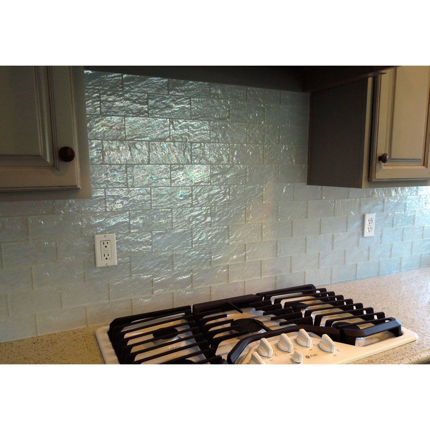 Shop Ice White Textured Subway 5 Sq Ft Tiles Case Of 40 Free