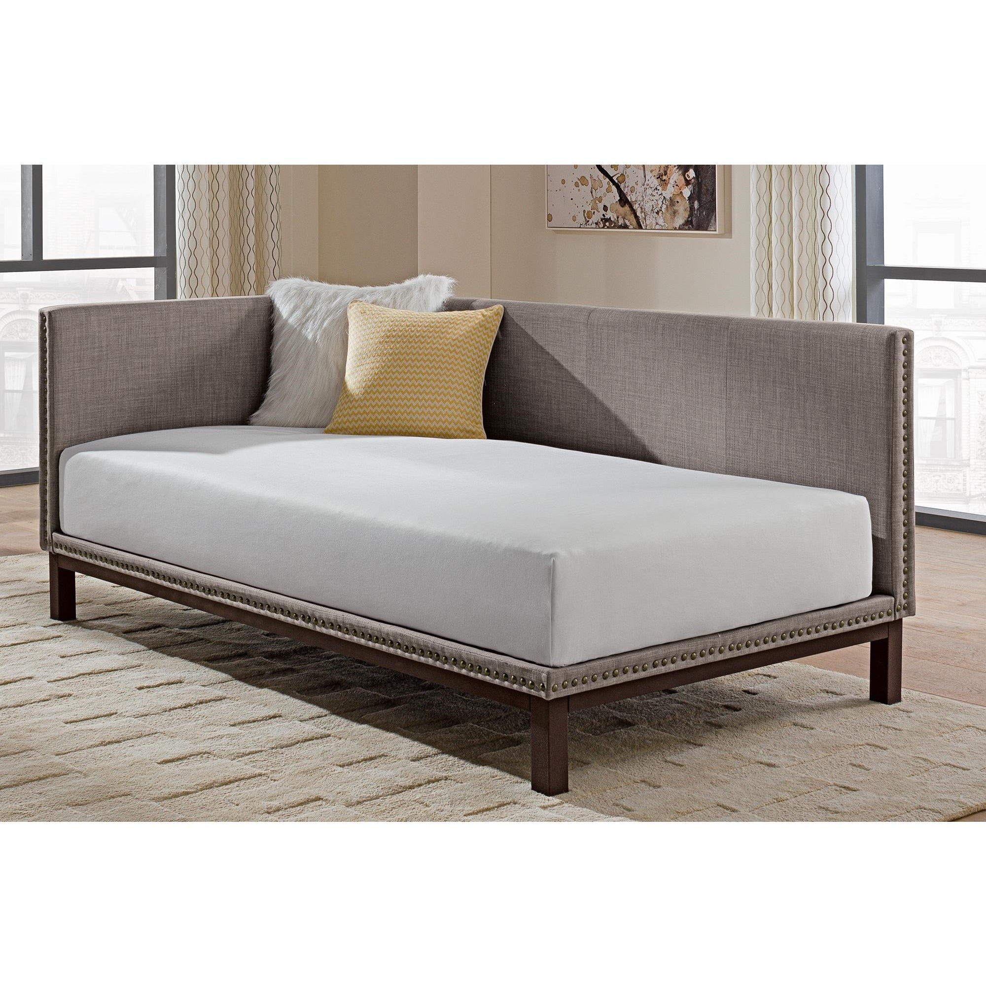 Superieur Shop Maison Rouge Wroth Mid Century Grey Upholstered Modern Daybed   Free  Shipping Today   Overstock.com   21895216