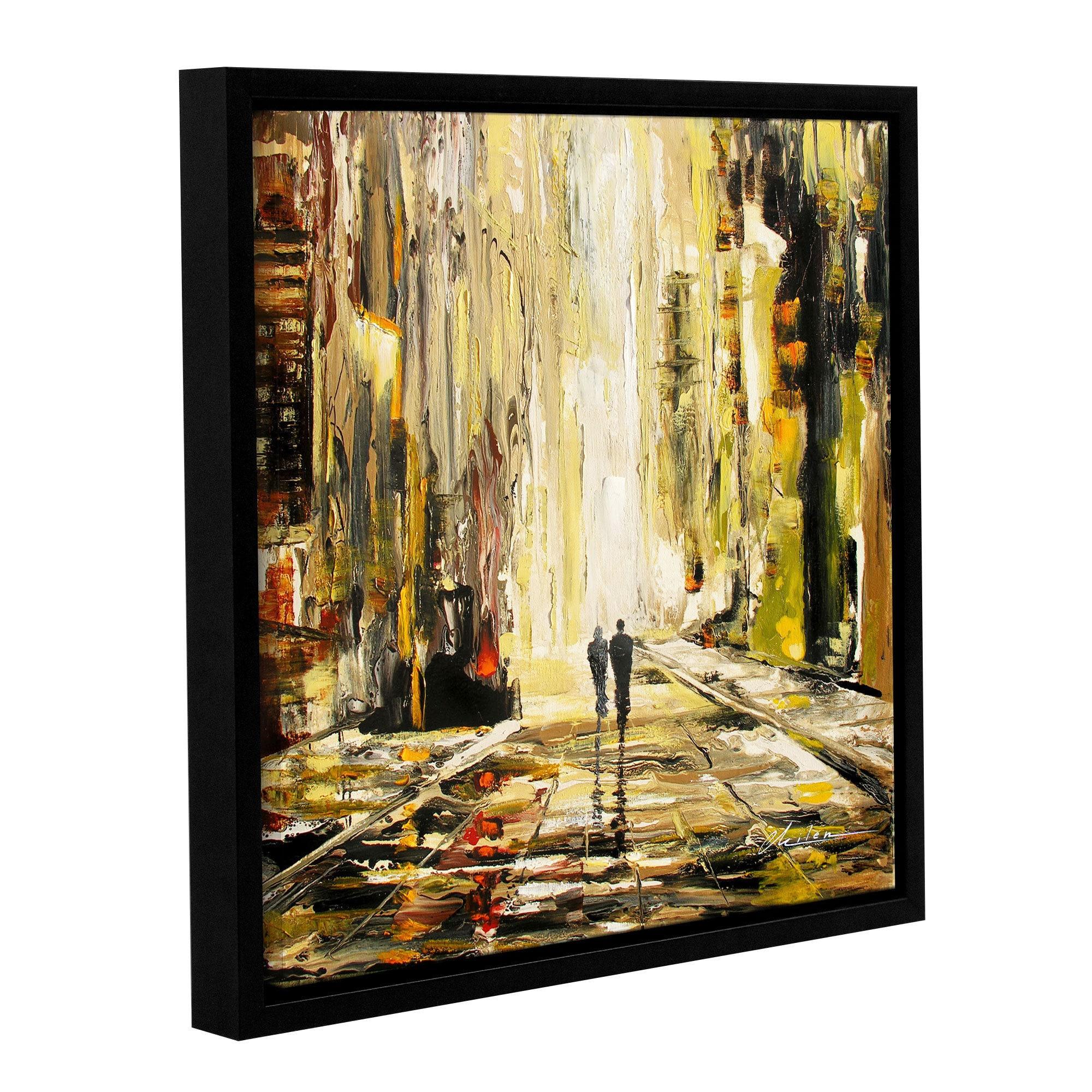 Shop ArtWall Milen Tod \'Lover\'S Lane\' Gallery-wrapped Floater-framed ...