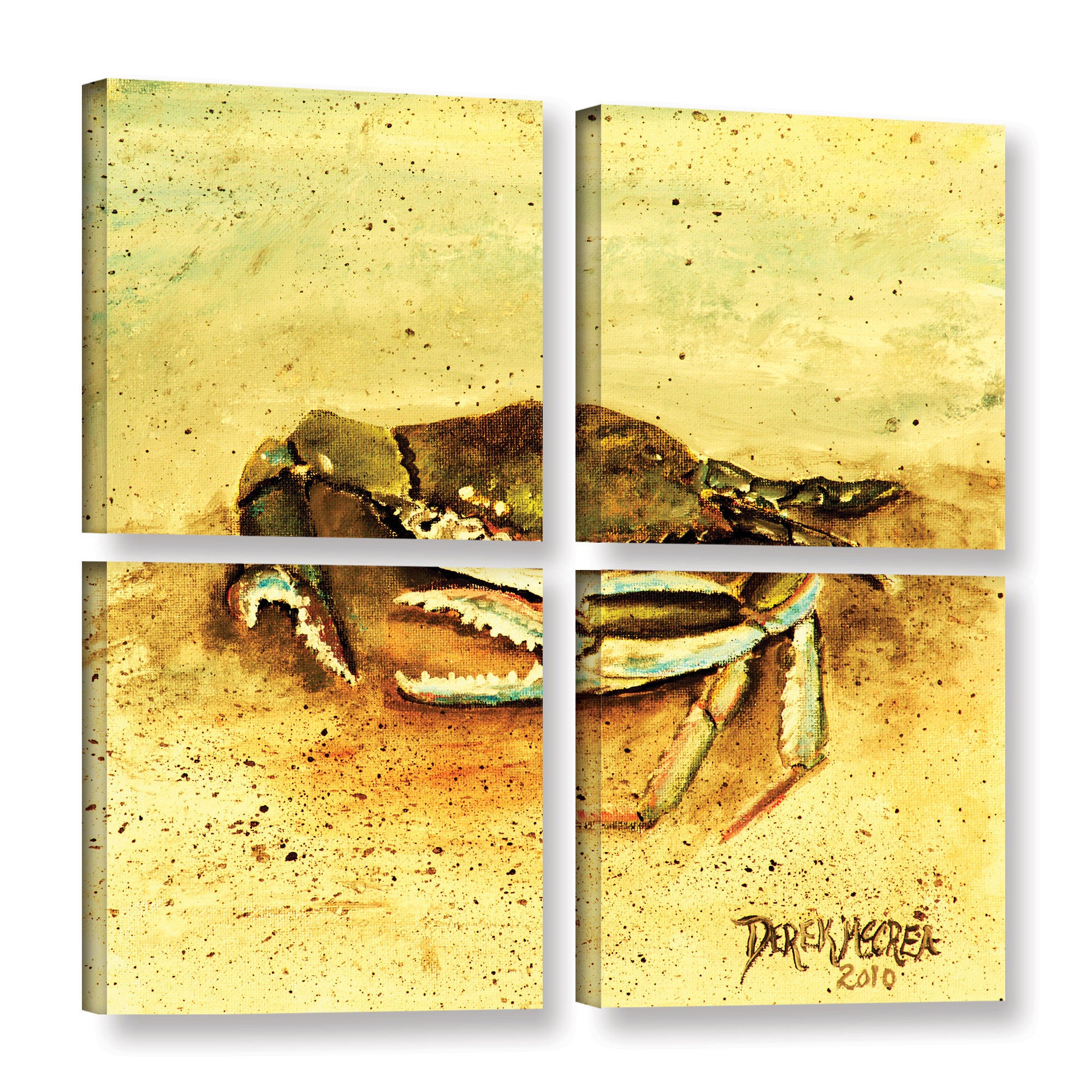 ArtWall Derek Mccrea \'Crab \' 4 Piece Gallery-wrapped Canvas Square ...