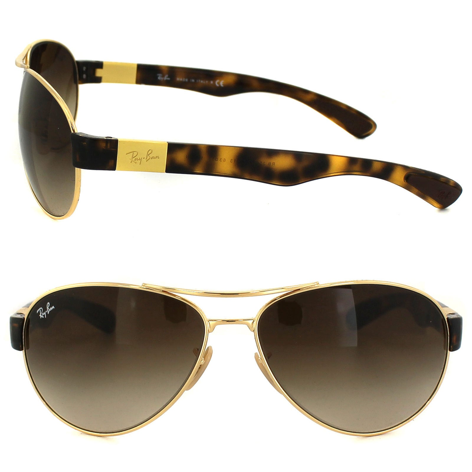 b60b57134de Shop Ray-Ban RB3509 Unisex Gold Tortoise Frame Brown Gradient Lens  Sunglasses - Free Shipping Today - Overstock - 10520564