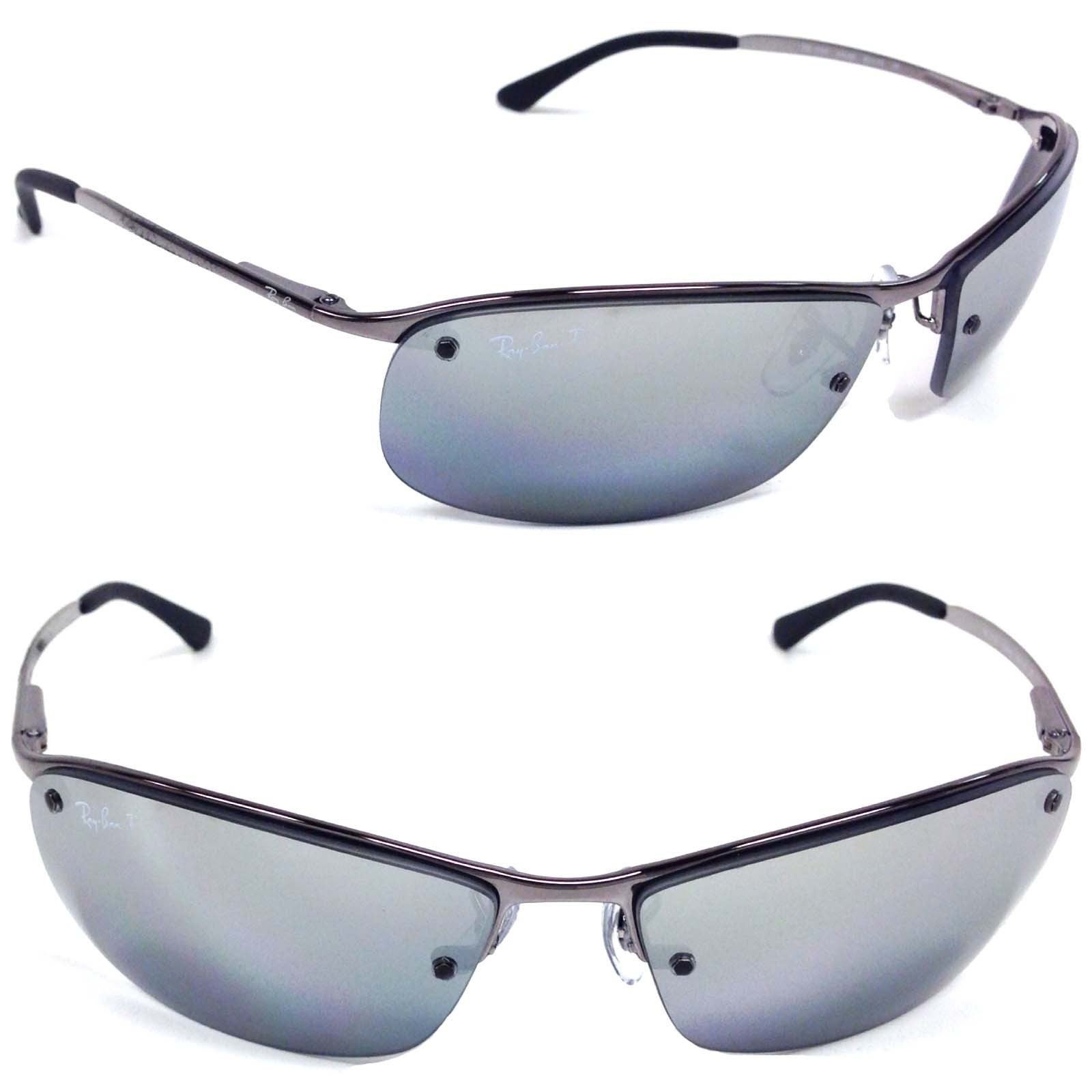 41b928df44bddc Shop Ray-Ban RB3183 63mm Polarized Silver Mirror Lenses Gunmetal Frame  Sunglasses - Free Shipping Today - Overstock - 10520567