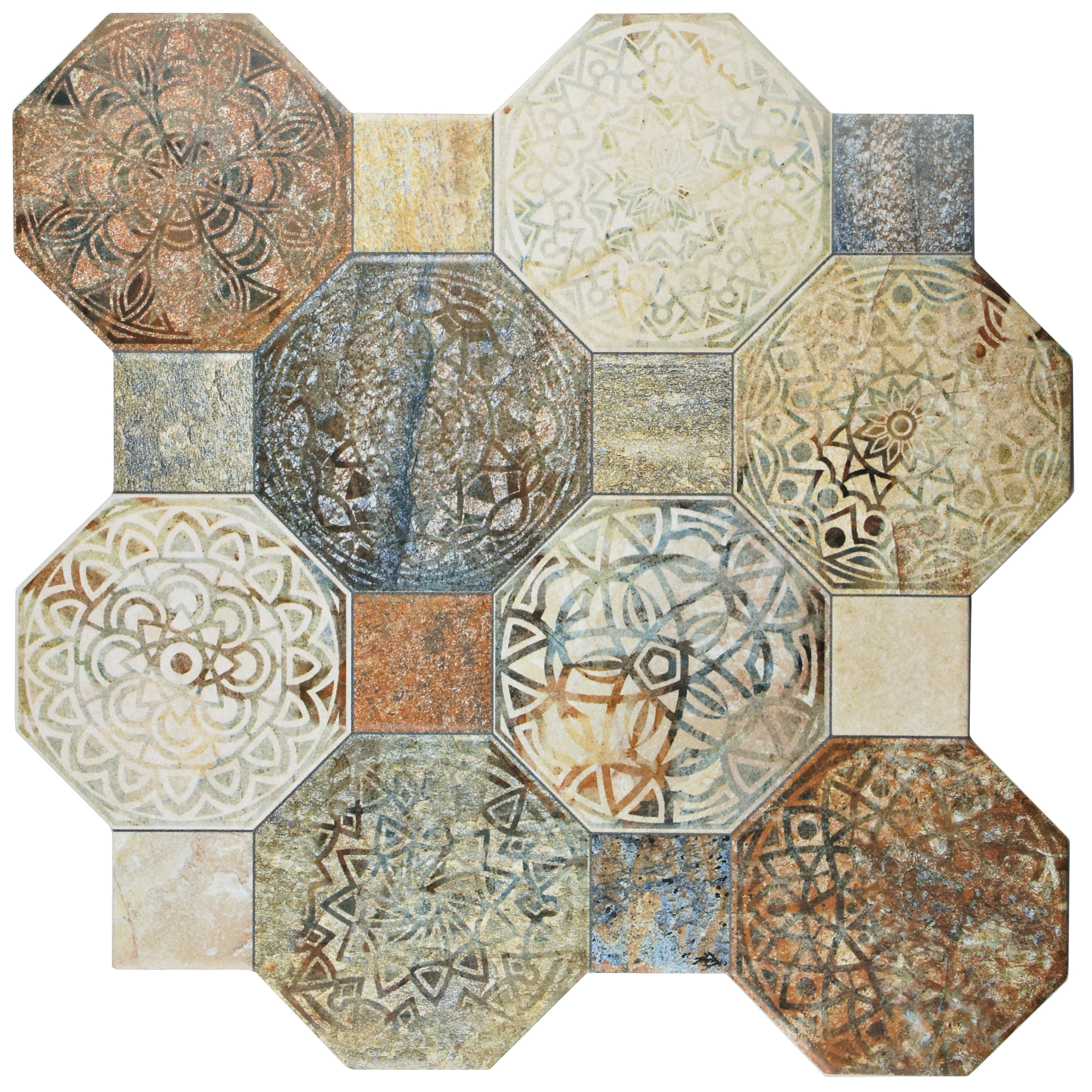 Shop Somertile 1775x1775 Inch Silix Decor Ceramic Floor And Wall