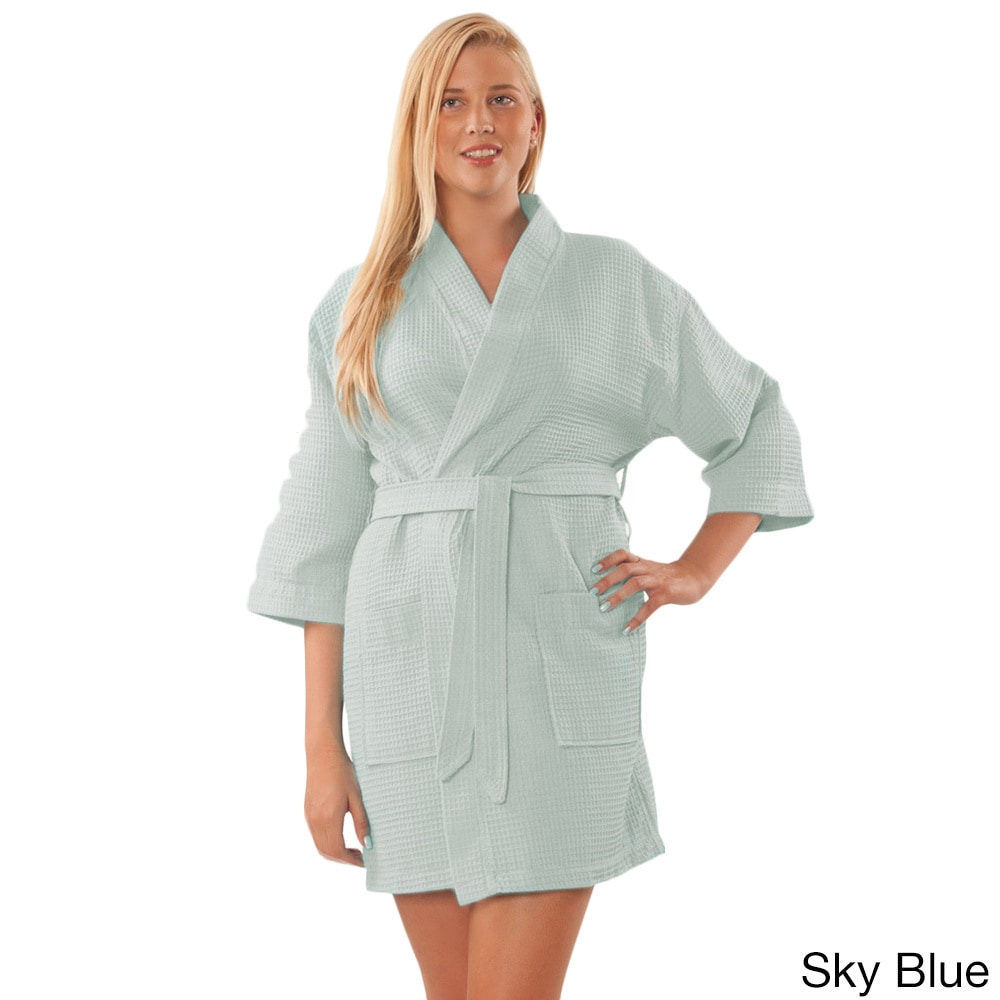 e32216c311 Shop Lightweight Waffle Kimono Unisex Spa Robe Square Pattern (One Size) -  Free Shipping On Orders Over  45 - Overstock - 10521685