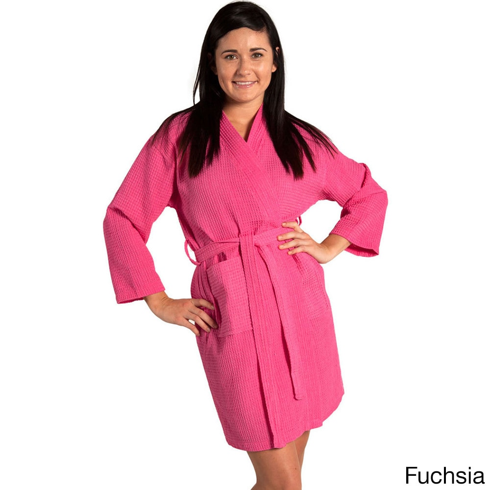 8c298763b2 Shop Lightweight Waffle Kimono Unisex Spa Robe Square Pattern (One Size) -  Free Shipping On Orders Over  45 - Overstock - 10521685
