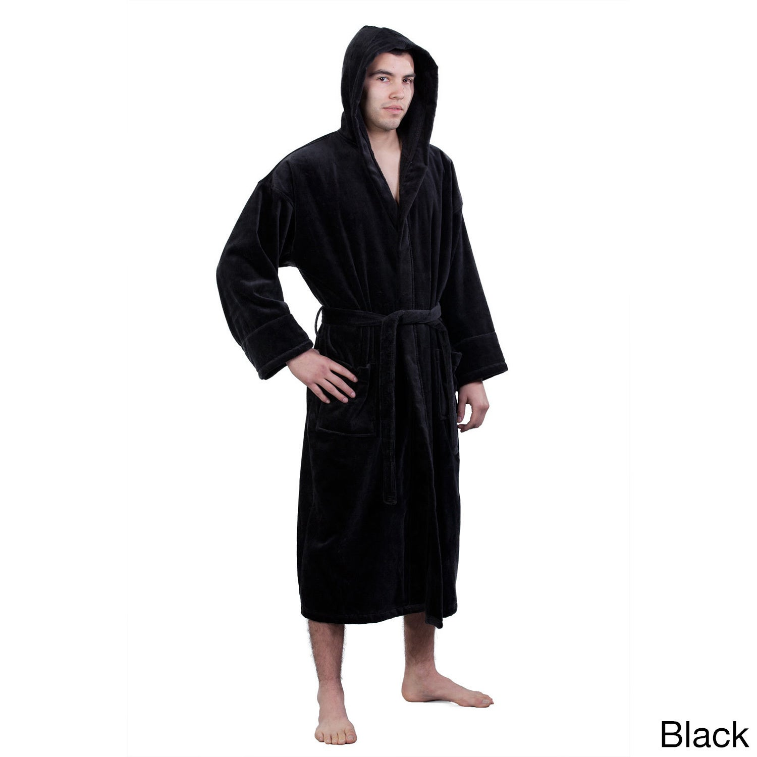 da273fba12 Shop 100-percent Pure Turkish Cotton Unisex Hooded Terry Velour Bathrobe -  On Sale - Free Shipping Today - Overstock - 10521717