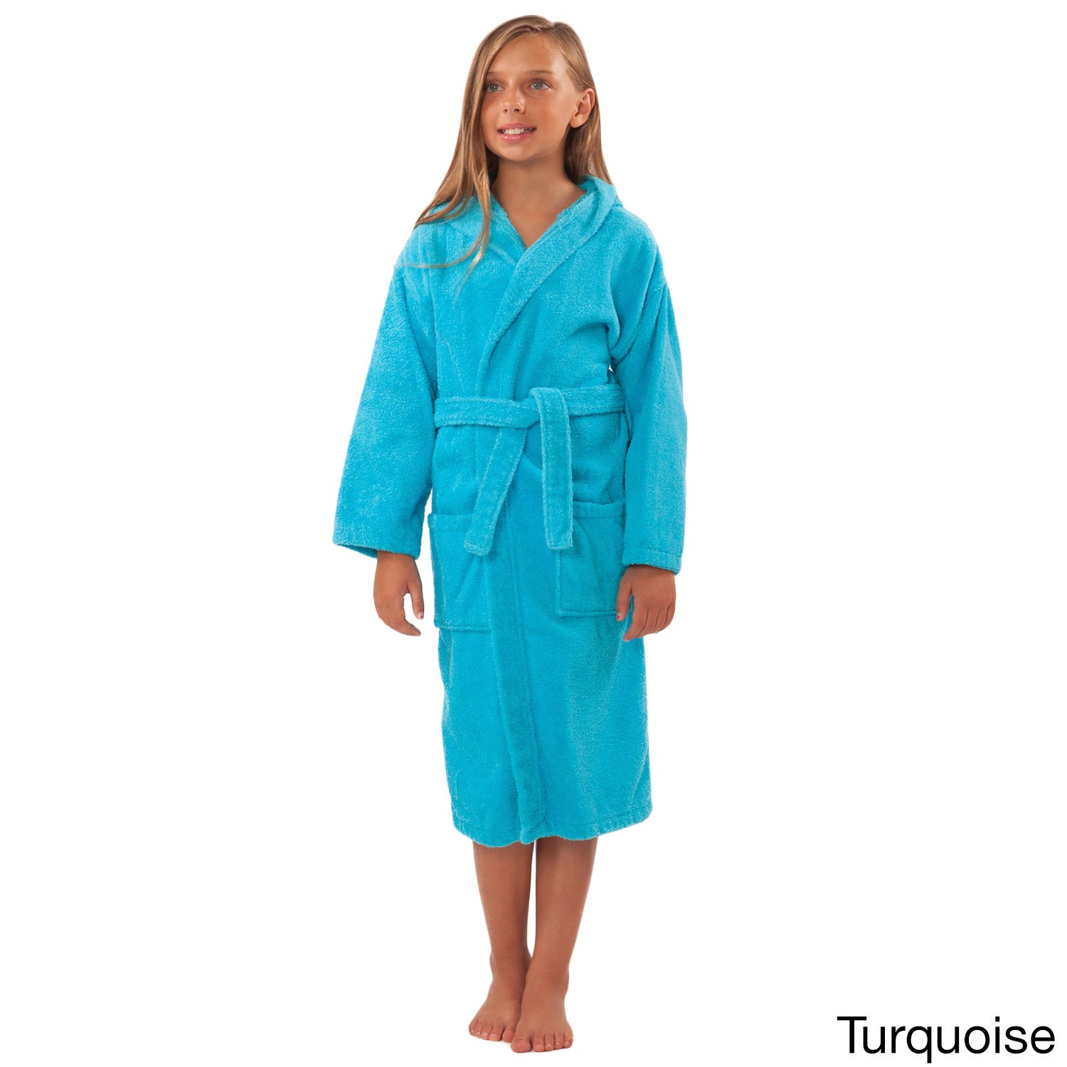06446e546b Shop 100-percent Turkish Cotton Kid s Hooded Terry Bathrobe - Free Shipping  On Orders Over  45 - Overstock - 10521721