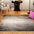 Porch & Den Williamsburg Rodney Contemporary Ombre Waves Grey Area Rug (7'6 x 9'6)