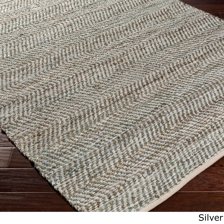 Hand-Woven Aylsham Stripe Indoor Jute Area Rug