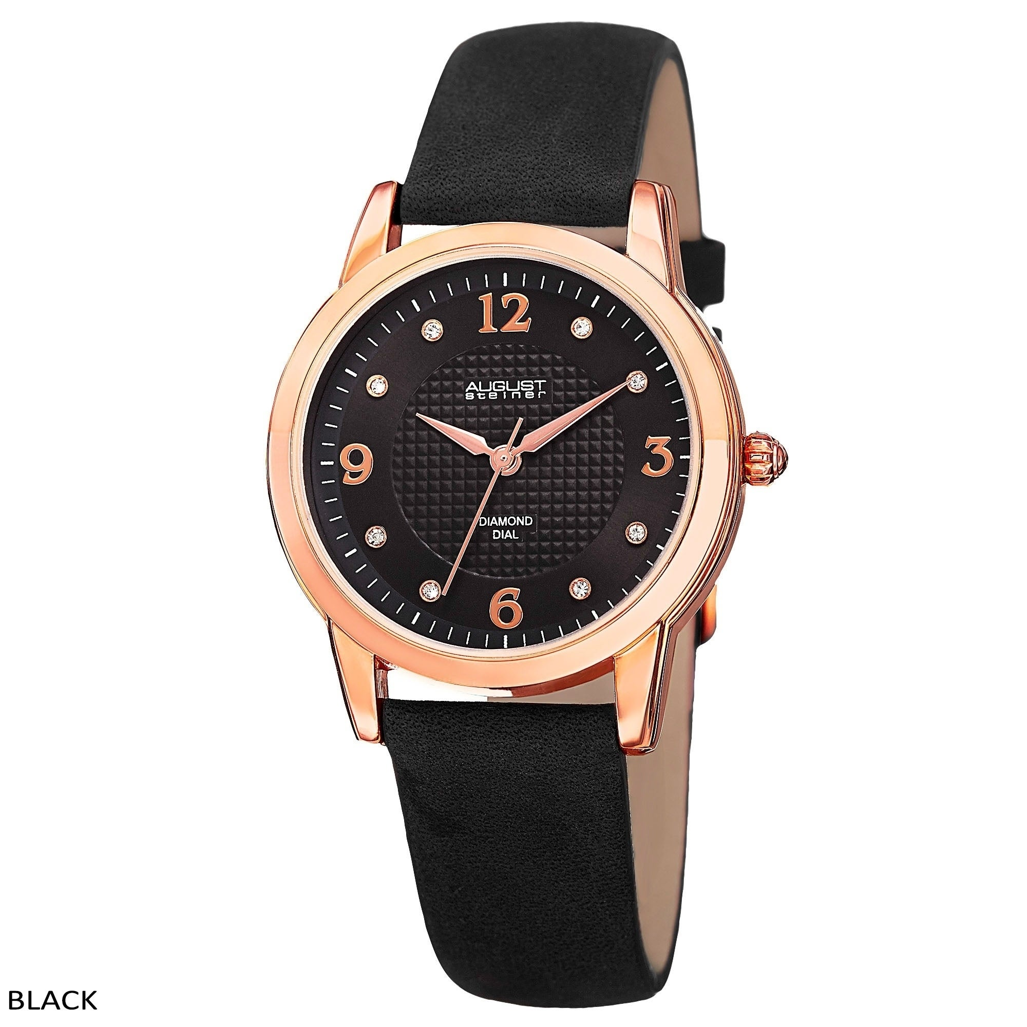 0cd1cce18 Shop August Steiner Women's Quartz Diamond Leather Strap Watch - On Sale -  Free Shipping Today - Overstock - 10522850