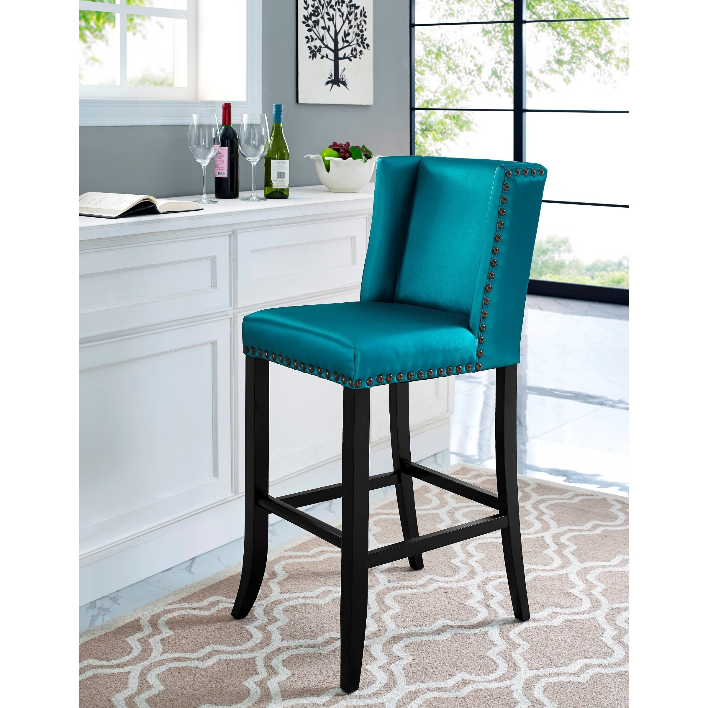Shop denver blue bar stool free shipping today overstock com 10527796