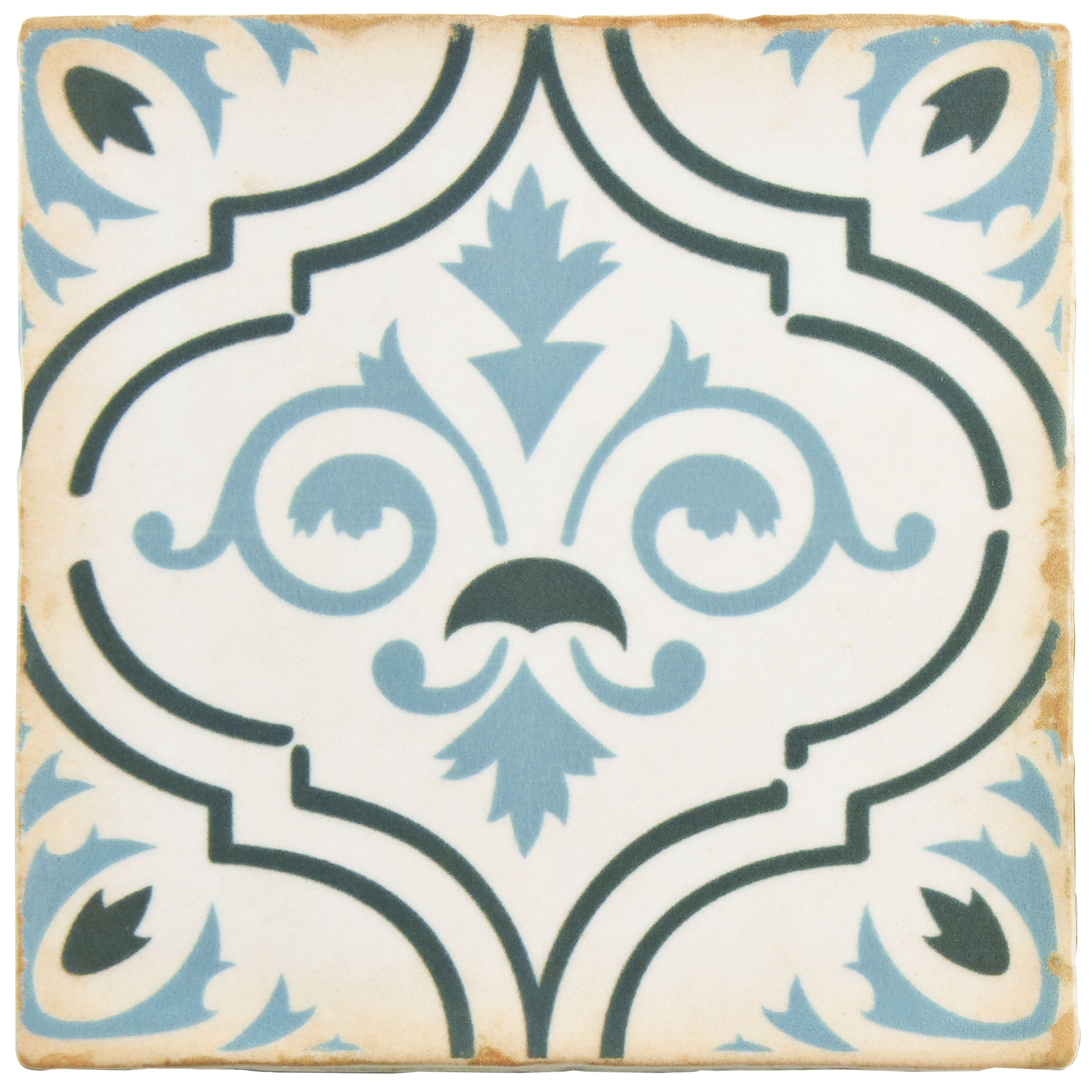 Somertile 4 875x4 875 Inch Chronicle Fleur De Lis Ceramic Floor And Wall Tile 32 Tiles 5 9 Sqft Free Shipping On Orders Over 45