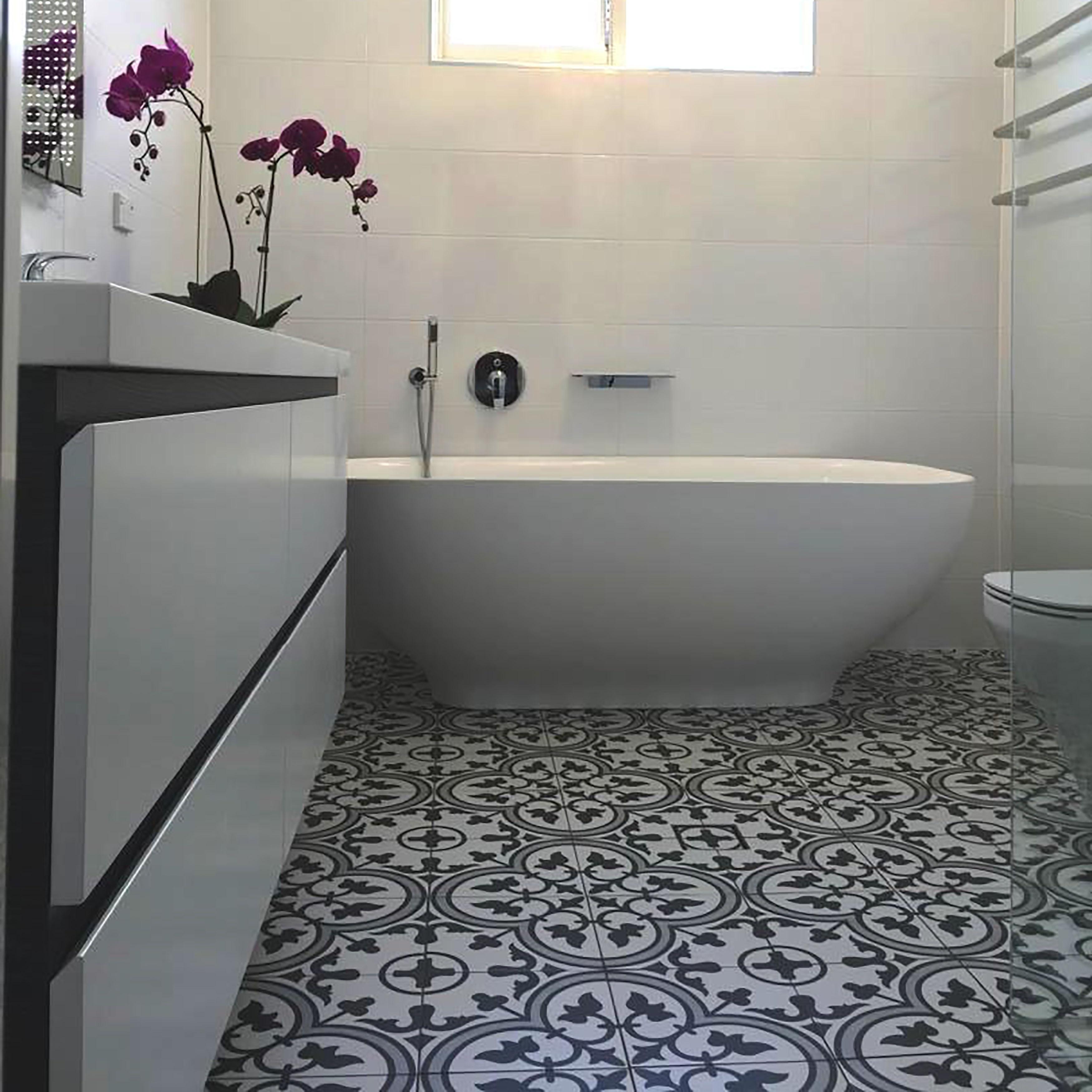 Shop Somertile 975 X 975 In Art Grey Porcelain Tile 1076 Sqft