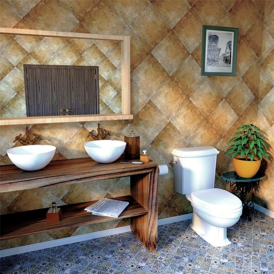Shop Somertile 125x125 Inch Azorin Cotto Ceramic Floor And Wall