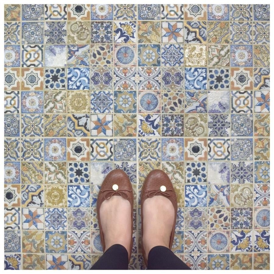 Shop Somertile 125x125 Inch Azorin Arenal Decor Ceramic Floor And
