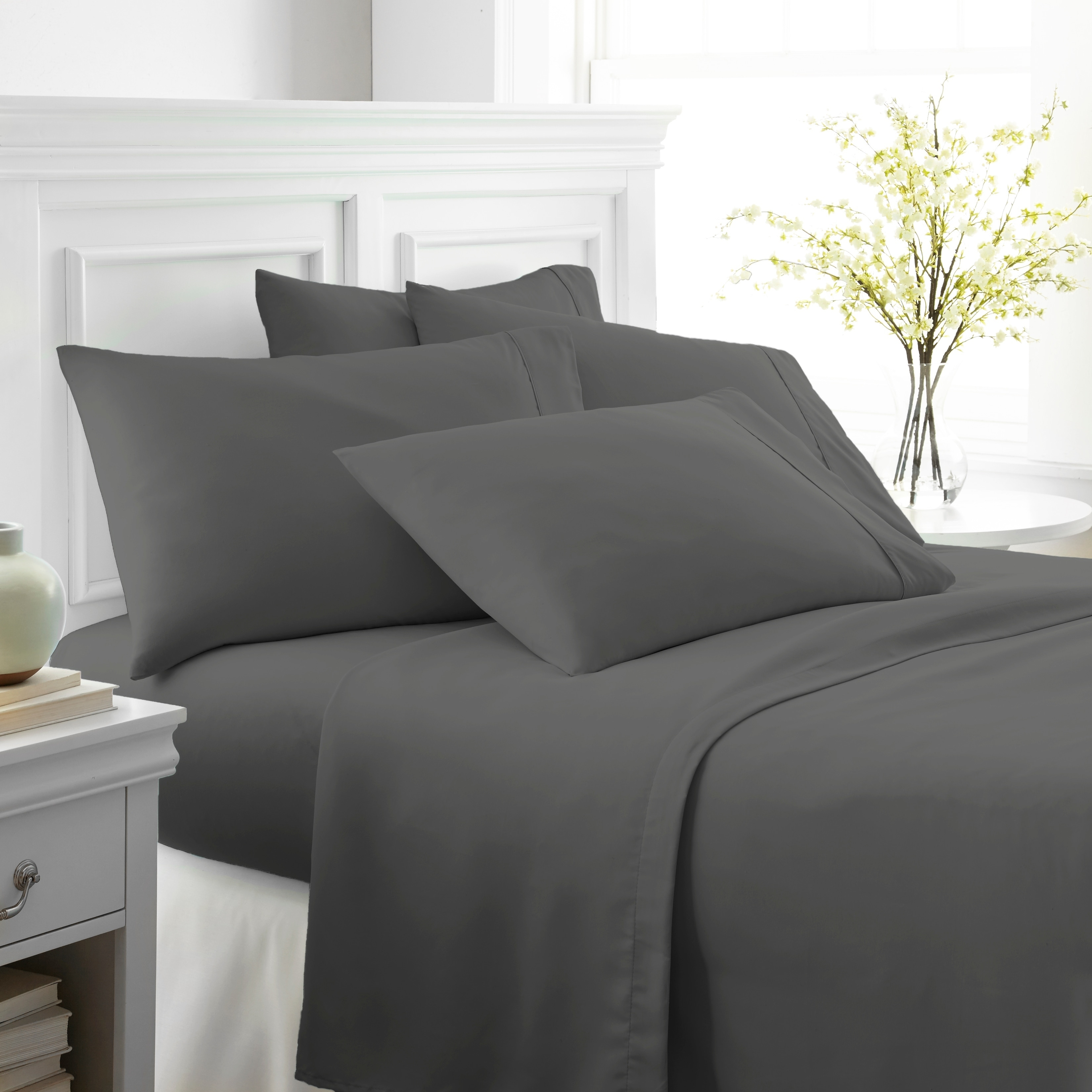 Shop Merit Linens Ultra Soft 6 Piece Bed Sheet Set   On Sale   Free  Shipping On Orders Over $45   Overstock.com   10529098