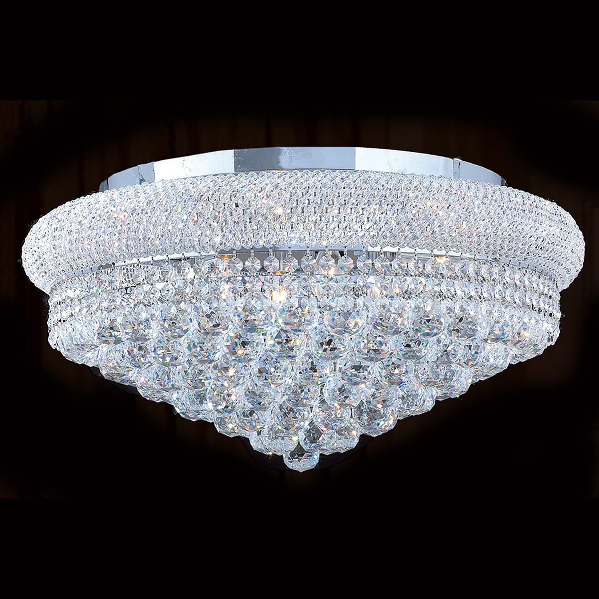 Shop French Empire 12 Light Chrome Finish and Faceted Crystal 24 ...